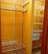 Шкаф-купе в нише коридора - фотографии наполнения