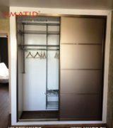 Встроенный шкаф-купе в спальне фотографии