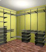 Гардеробная в спальне - дизайн проект