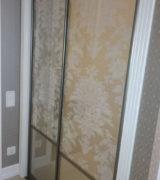 Гардеробная в спальне и двери-купе