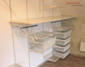 Встроенный шкаф-купе в мансарде, наполнение, фотографии